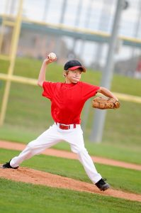 Youth baseball pitcher at risk for elbow injury