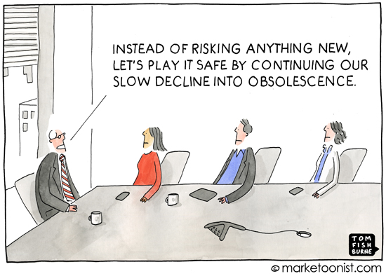 Safe is risky social media cartoon