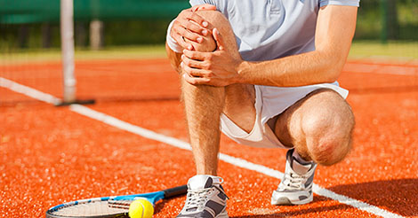 Tennis player with knee pain after meniscus surgery