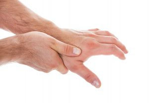 Pain from thumb arthritis