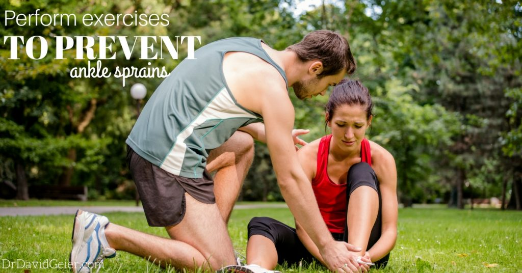 Exercises to prevent a sprained ankle