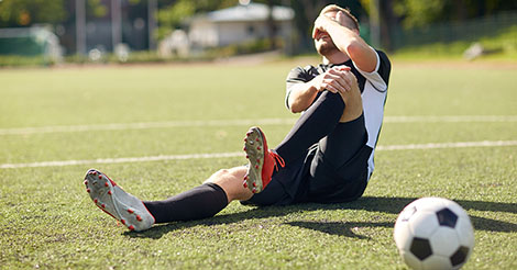 Soccer player suffers serious knee injury