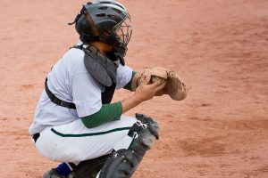 Pain kneeling could be a problem for a baseball catcher
