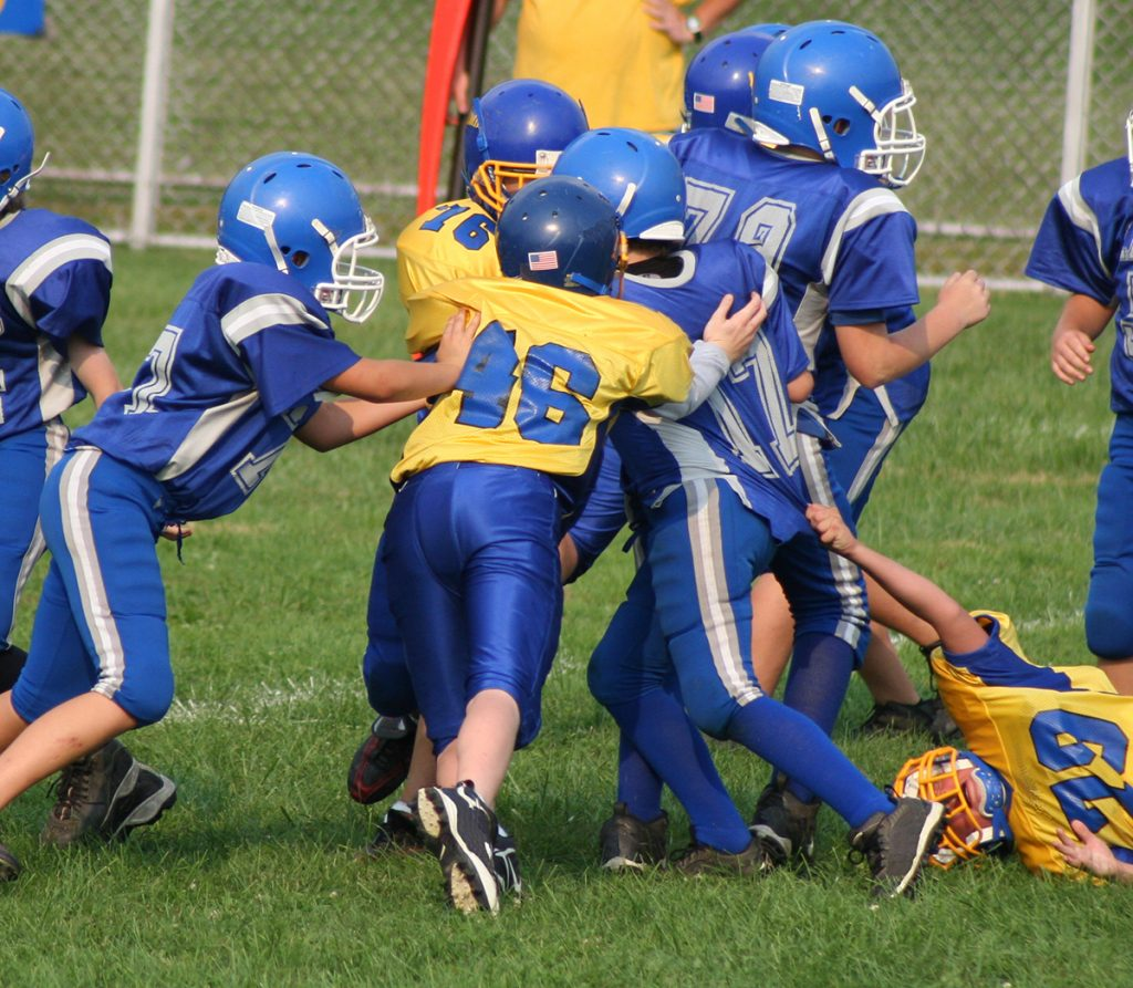 Youth football tackle