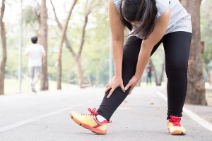 Runner with leg pain from shin splints