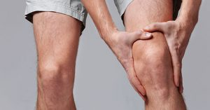 Man with knee pain from cartilage damage